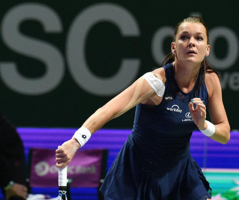 Agnieszka Radwańska podczas meczu z Flavią Pennettą /AFP