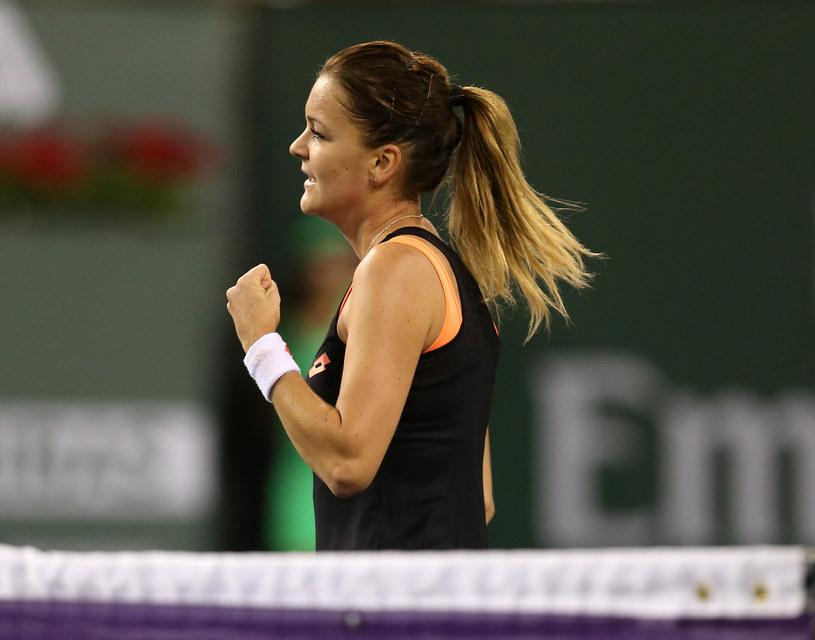 Agnieszka Radwańska podczas meczu z Simoną Halep /AFP