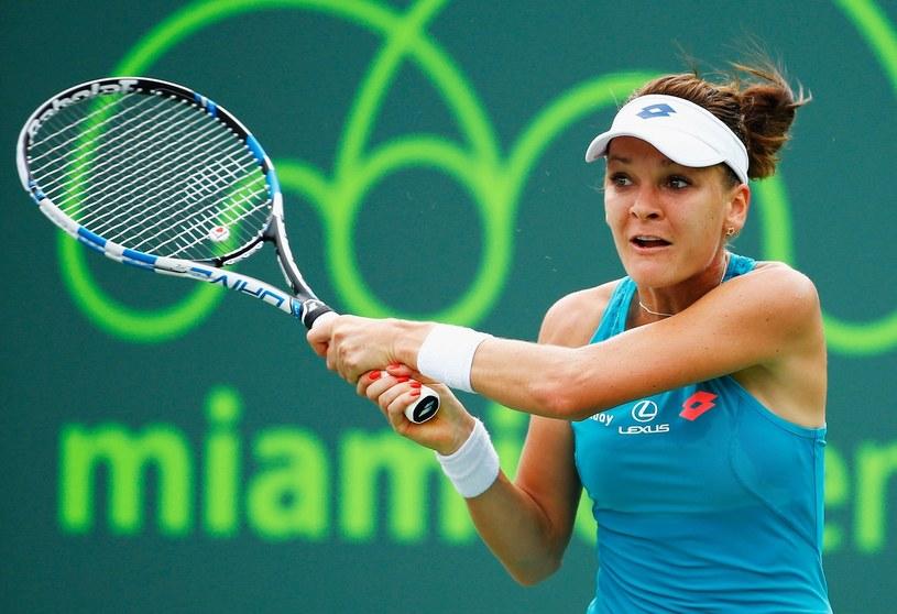 Agnieszka Radwańska podczas Miami Open /AFP