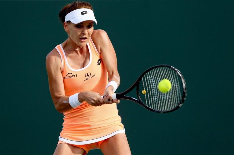 Agnieszka Radwańska podczas tegorocznego turnieju w Miami /AFP
