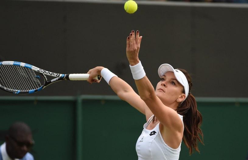 Agnieszka Radwańska podczas tegorocznego Wimbledonu /PAP/EPA