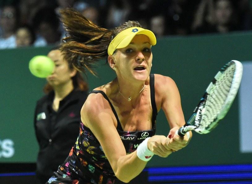 Agnieszka Radwańska podczas turnieju Masters. /AFP