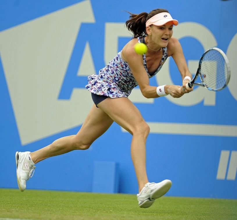 Agnieszka Radwańska podczas turnieju w Eastbourne /PAP/EPA