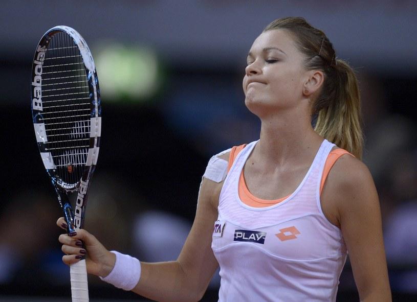 Agnieszka Radwańska robiła, co mogła w starciu z Marią Szarapową, ale po raz 9. z nią przegrała. /AFP