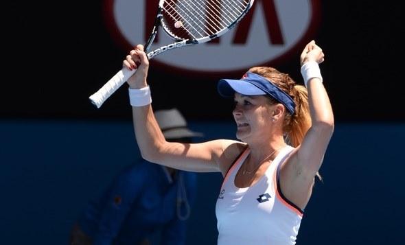 Agnieszka Radwańska w Australian Open miała sporo powodów do radości, zwłaszcza po meczu z Wiktorią Azarenką. /AFP