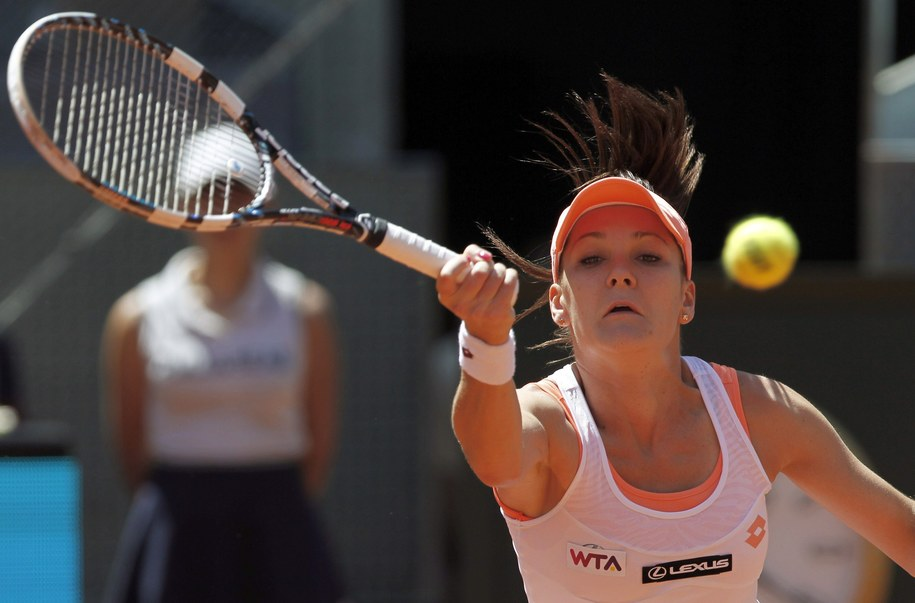 Agnieszka Radwańska w drugiej rundzie turnieju w Wimbledonie /SERGIO BARRENECHEA /PAP/EPA