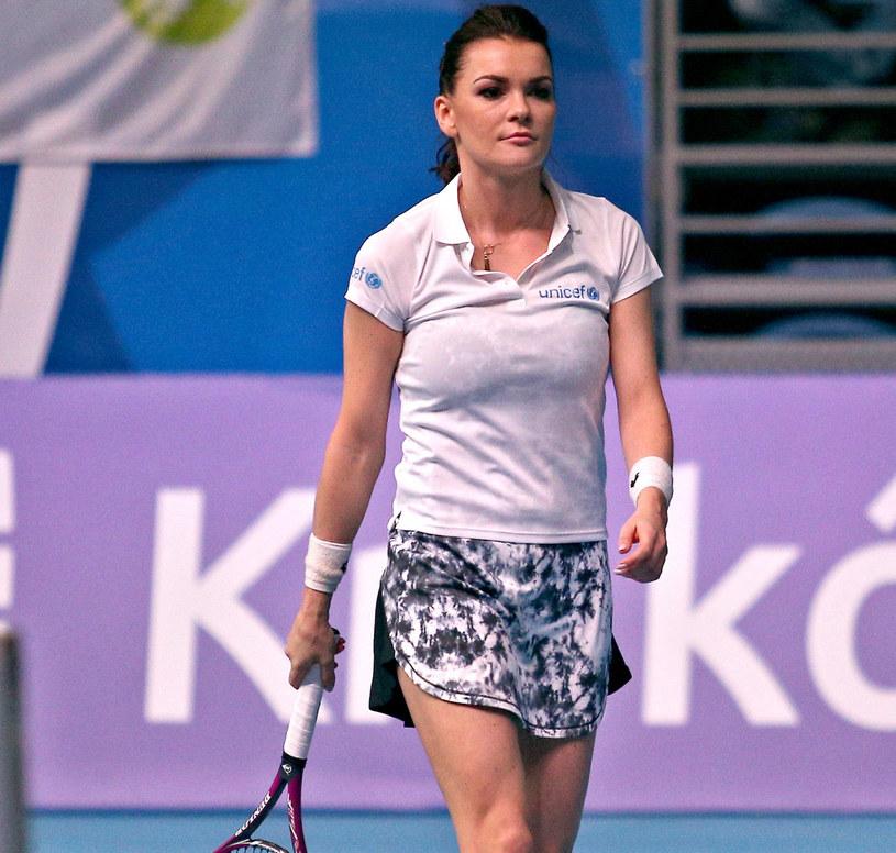 Agnieszka Radwańska w koszulce polo, która będzie hitem lata /Damian Klamka /East News