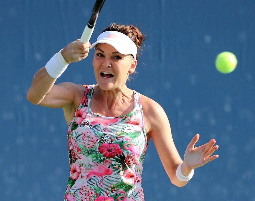 Agnieszka Radwańska w meczu 1. rundy US Open /AFP