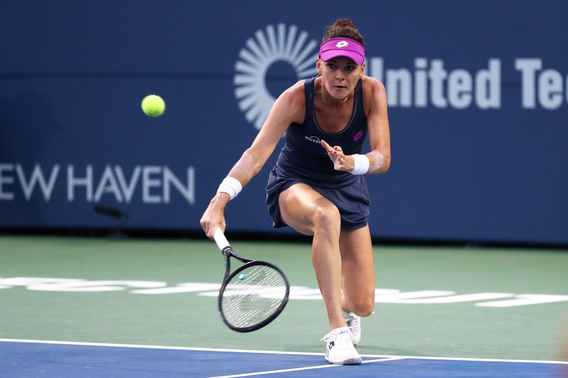 Agnieszka Radwańska w meczu z Eugenie Bouchard /AFP