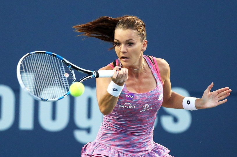 Agnieszka Radwańska w meczu z Jeleną Ostapenko /AFP