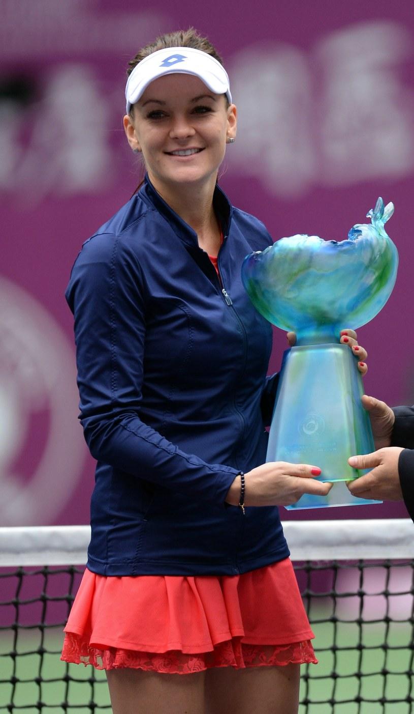 Agnieszka Radwańska w niedzielę wygrała turniej w Tiencinie /AFP