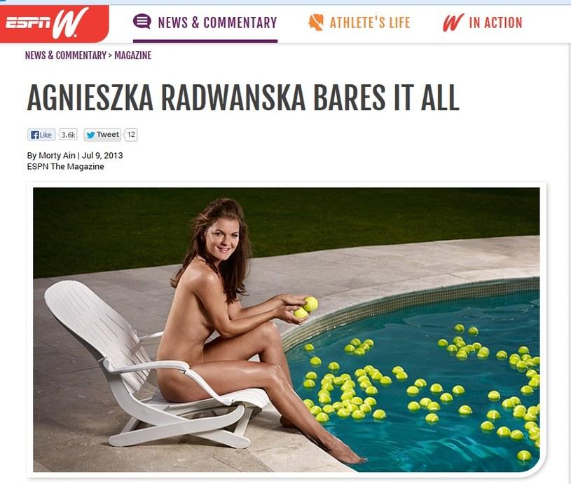 Agnieszka Radwańska w sesji dla ESPN /Internet