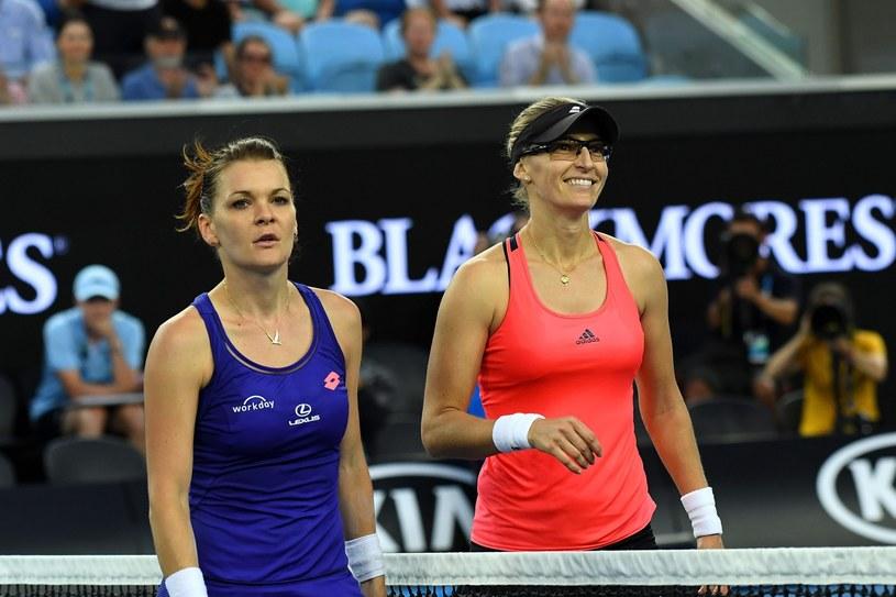 Agnieszka Radwańska (z lewej) i Mirjana Lucić-Baroni po meczu /PAP/EPA