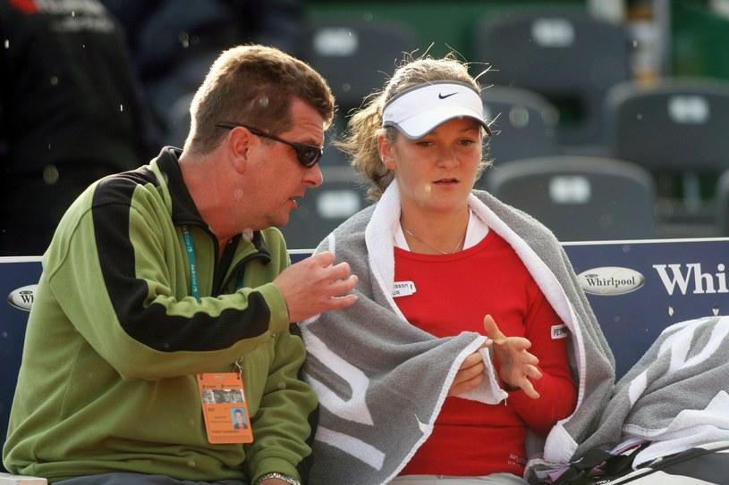 Agnieszka Radwańska z ojcem Robertem Radwańskim, 2007 r. /M.Wielgus /East News