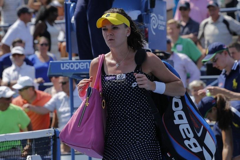 Agnieszka Radwańska za burtą turnieju w Seulu /AFP