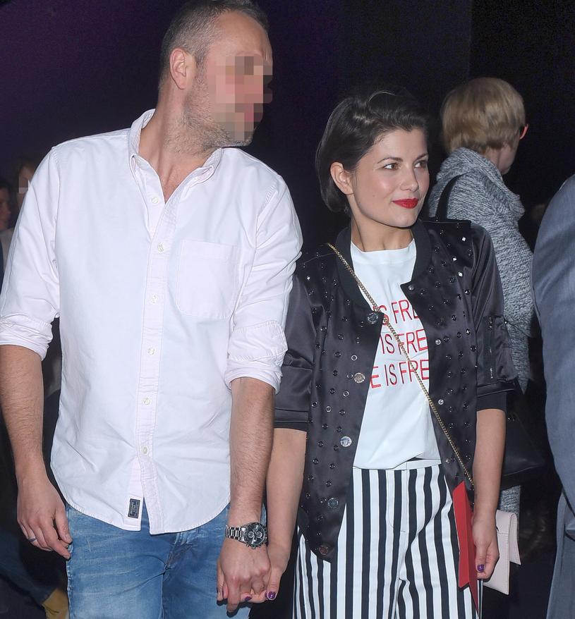 Agnieszka Sienkiewicz z mężem /Andras Szilagyi /MWMedia