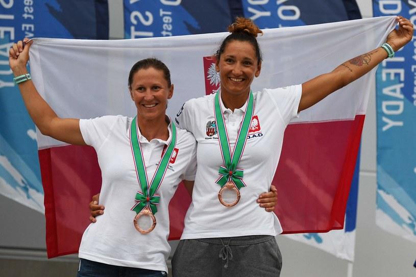 Agnieszka Skrzypulec (z lewej) i Jolanta Ogar /AFP