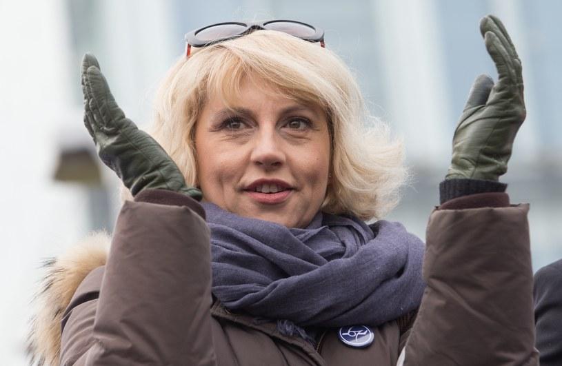 Agnieszka Szelągowska, wiceprzewodnicząca Związku Zawodowego Personelu Pokładowego i Lotniczego. Fot Tomasz Jastrzębowski /Reporter