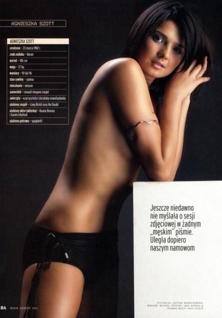 Agnieszka Szott-Hejmej w sesji dla Maxim Magazine /INTERIA.PL