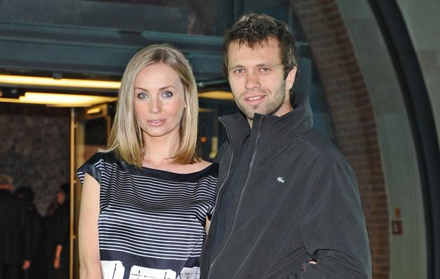 Agnieszka Szulim z mężem, fot.Andras Szilagyi  /MWMedia