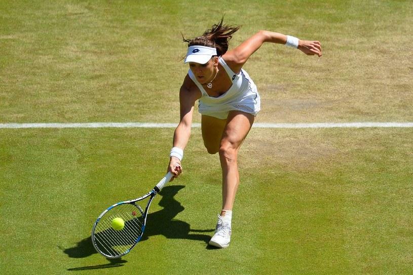 Agnieszka w meczu z Muguruzą na Wimbledonie /AFP