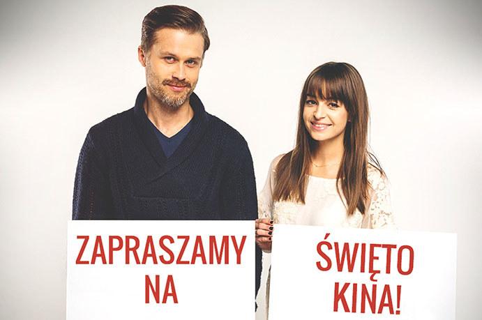 Agnieszka Więdłocha i Maciej Zakościelny zapraszają na Święto Kina /materiały prasowe