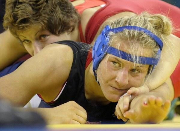 Agnieszka Wieszczek (na pierwszym planie) /AFP