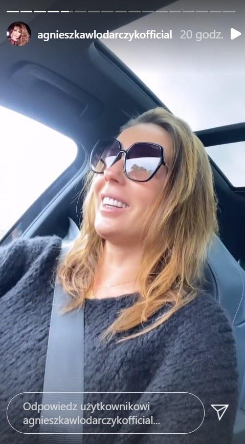 Agnieszka Włodarczyk opowiada o ciążowych trudnościach na story fot. https://www.instagram.com/agnieszkawlodarczykofficial/?hl=pl /Instagram