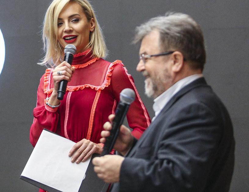 Agnieszka Woźniak-Starak i Edward Miszczak /Beata Zawrzel /Reporter