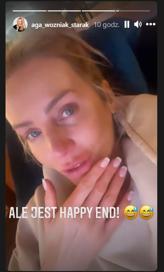 Agnieszka Woźniak-Starak popłakała się, oglądając materiał o krowie /Instagram/@aga_wozniak_starak /Instagram
