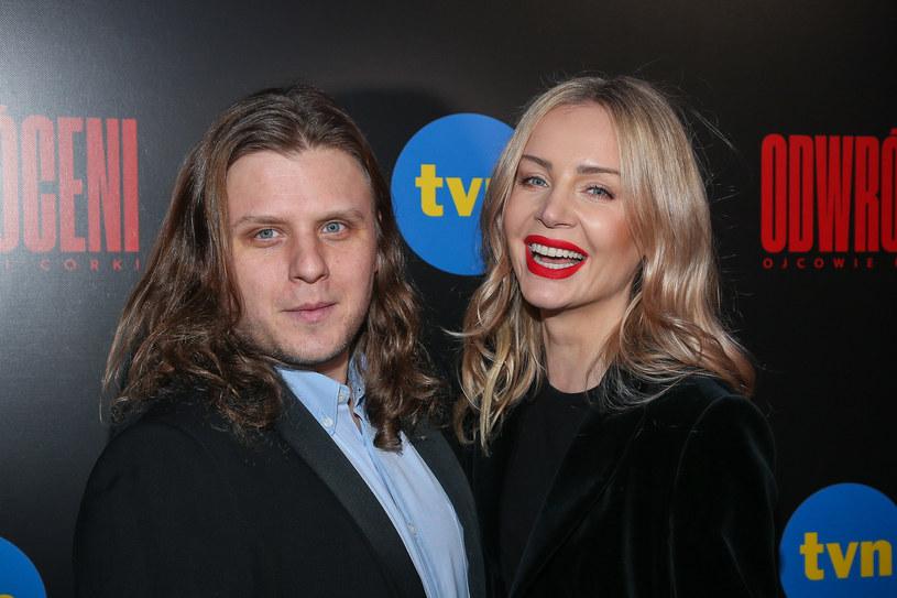 Agnieszka Woźniak-Starak z mężem /Kamil Piklikiewicz/DDTVN /East News