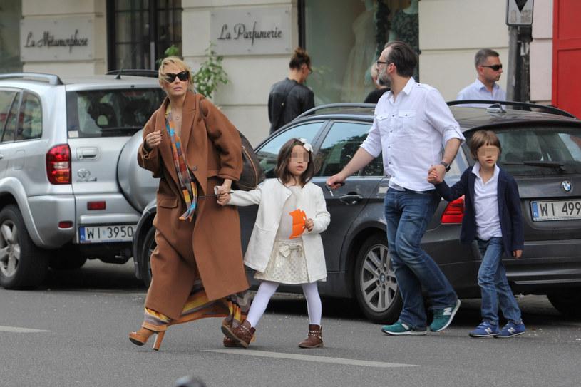 Agnieszka z rodziną /- /Foto IP