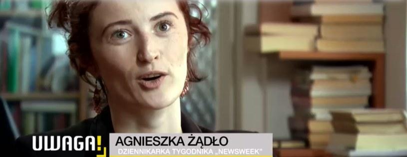 """Agnieszka Żądło z """"Newsweeka"""" nagłośniła sprawę Bartłomieja M. /TVN"""