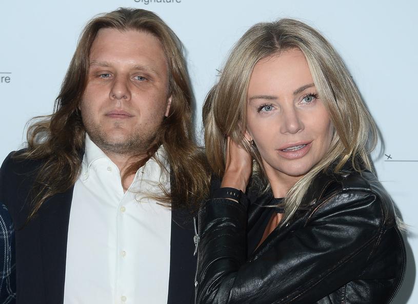 Agnieszka ze swoim zabawnym mężem /Jarosław Antoniak /MWMedia