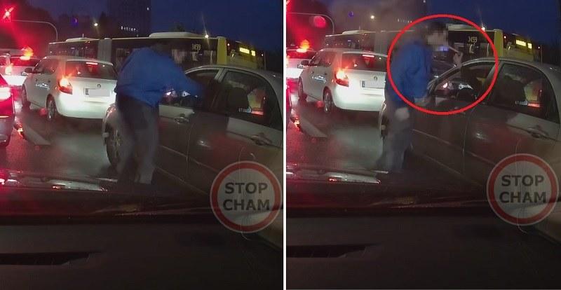 Agresywny kierowca dostał gazem! /YouTube