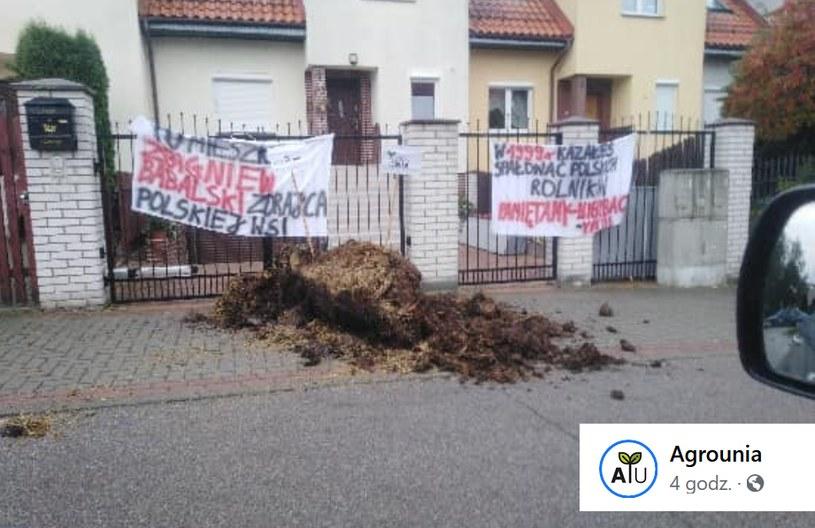 Agrounia publikuje zdjęcia z akcji; źródło: Agrounia /facebook.com
