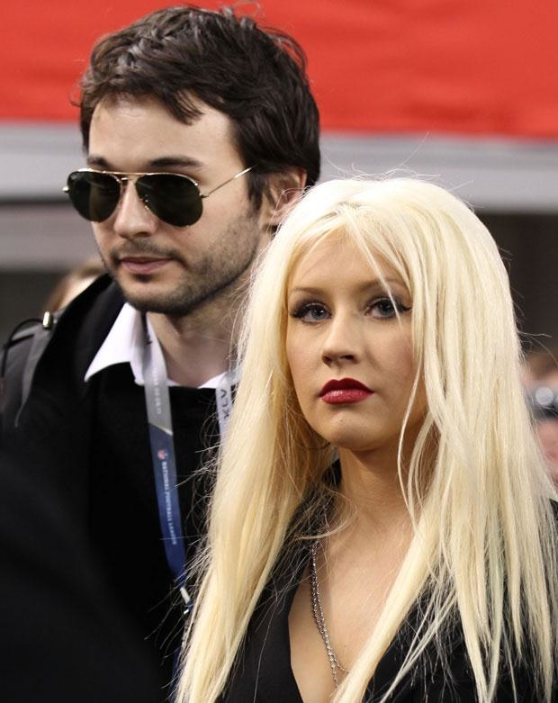 Aguilera z obecnym partnerem Mathew Rutlerem, fot. Christopher Polk  /Getty Images/Flash Press Media