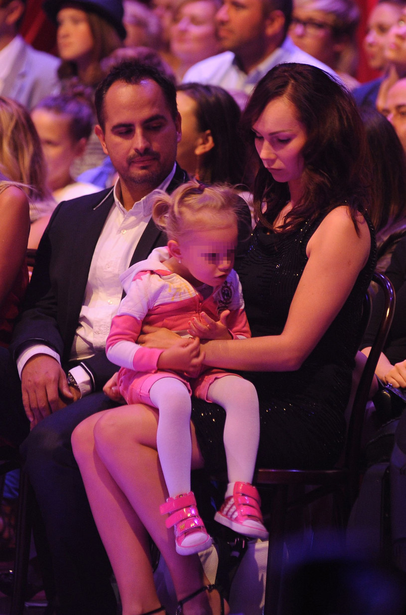 Agustin Egurrola i Nina Tyrka z córką /Andras Szilagyi /MWMedia