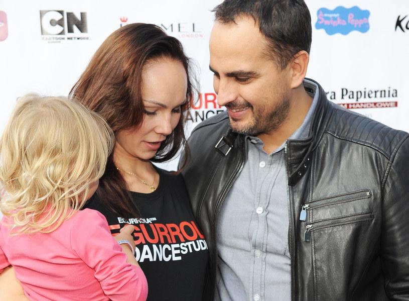 Agustin Egurrola i Nina Tyrka z córką /MWMedia