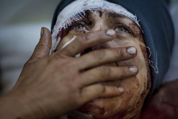 Aida podczas bombardowania straciła męża i dwoje dzieci /AFP