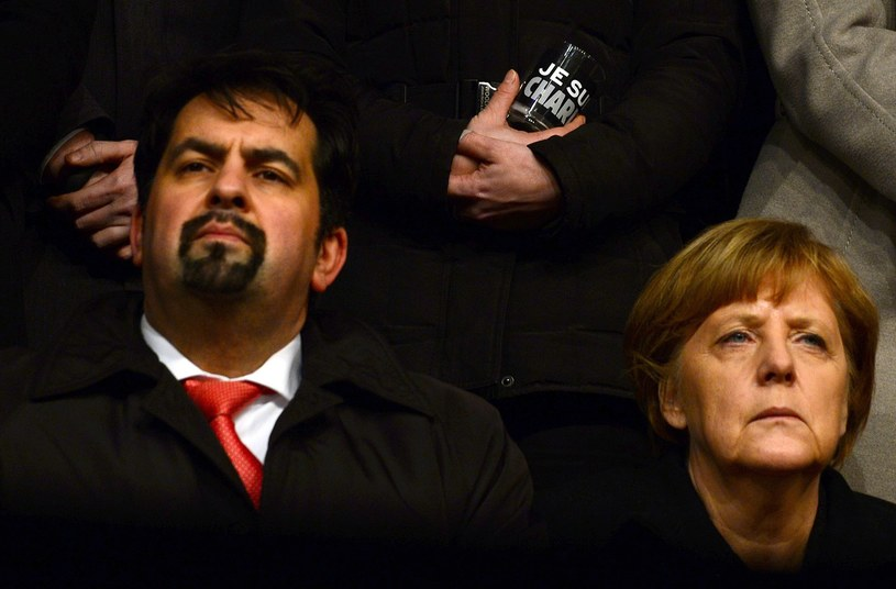 Aiman Mazyek i Angela Merkel /AFP