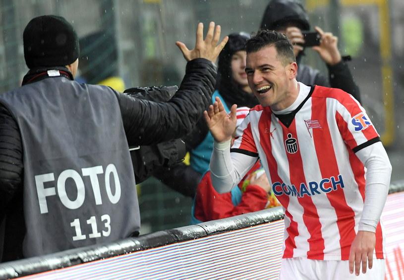 Airam Cabrera strzelił dwa gole /Jacek Bednarczyk /PAP