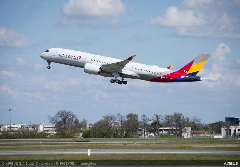 Airbus A350-900 odebrany przez linie lotnicze Asiana Airlines /materiały prasowe