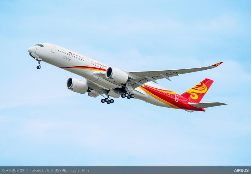 Airbus A350 XWB w barwach linii Hong Kong Airlines /materiały prasowe