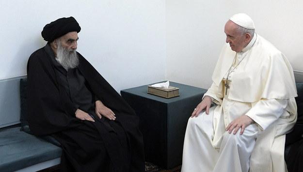 Ajatollah Ali as-Sistani oraz papież Franciszek /VATICAN MEDIA  /PAP