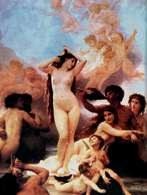 Akademizm: Adolphe-William Bouguereau, Narodziny Wenus, 1879 r. /Encyklopedia Internautica