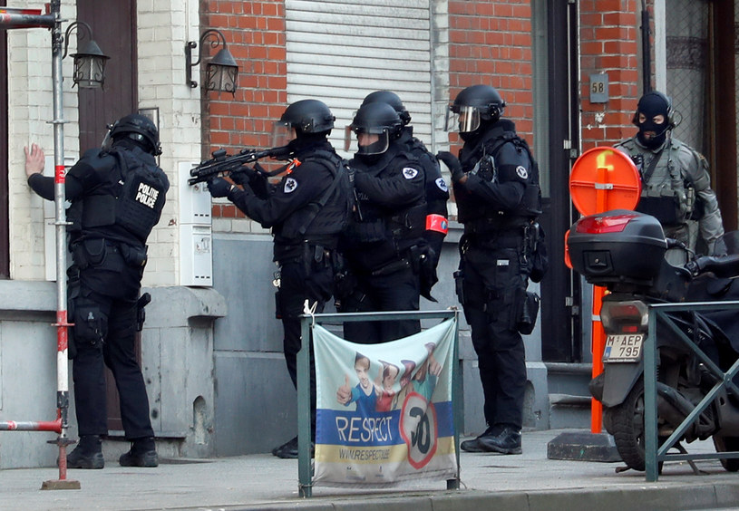 Akcja antyterrorystów w Brukseli / REUTERS/Yves Herman /Agencja FORUM