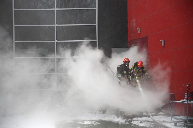 Akcja gaśnicza pożaru w archiwum urzędu miasta //Łukasz Gągulski /PAP