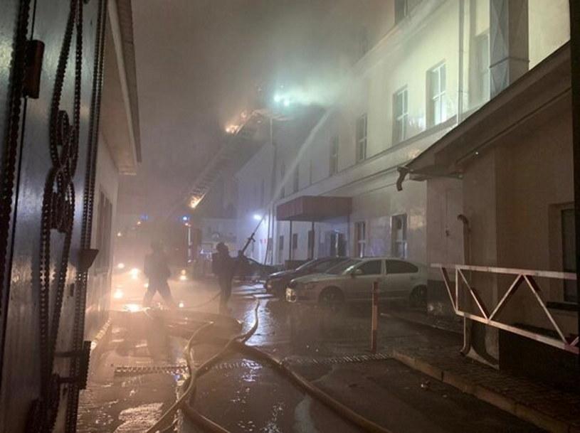 Akcja gaśnicza w akademiku w Moskwie /@infomoscow24 /Twitter