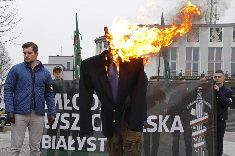 Akcja Młodzieży Wszechpolskiej /Artur Reszko /PAP